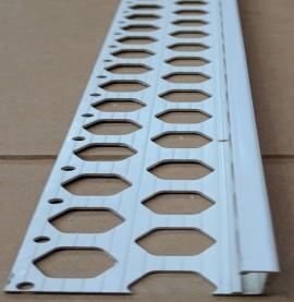 Renderplas White PVC 20mm - 22mm  x 40mm x 3.8mm x 2.5m Stop Bead (1 length)