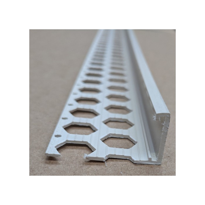 Renderplas Sand PVC 20mm - 22mm  x 40mm x 3.8mm x 2.5m Stop Bead (1 length)
