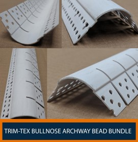 Trim-Tex 19mm Bullnose Archway White PVC Corner Bead Box of 35