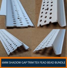 Trim-Tex 6mm Shadow Gap Feature Bead Bundle (pack of 50)