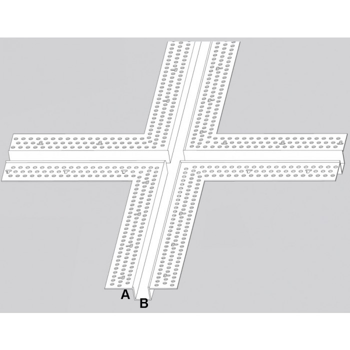 Trim-Tex 12.7mm x 19mm 4 Way Architectural Intersection Part Code AS520C