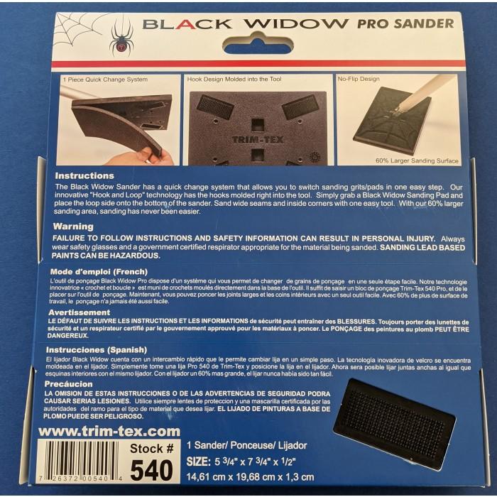 Trim-Tex Black Widow Pro Sander Part Number 540