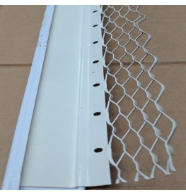 Wemico 20mm Render Bellcast Nosed Galvanised White Polyester Powder Coating  3m 1 Length