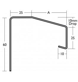 White Coated Aluminium Undersill 1.2mm x 2.5m 1 Length