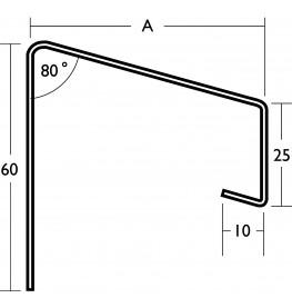 White Coated Aluminium Soffit Flashing 1.2mm x 2.5m 1 Length